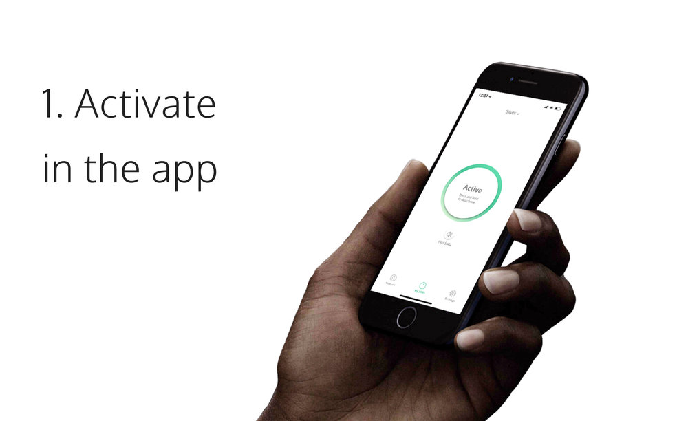 ACTIVATE STILLA    A quick tap in the free app activates the motion alarm inside your Stilla Motion.