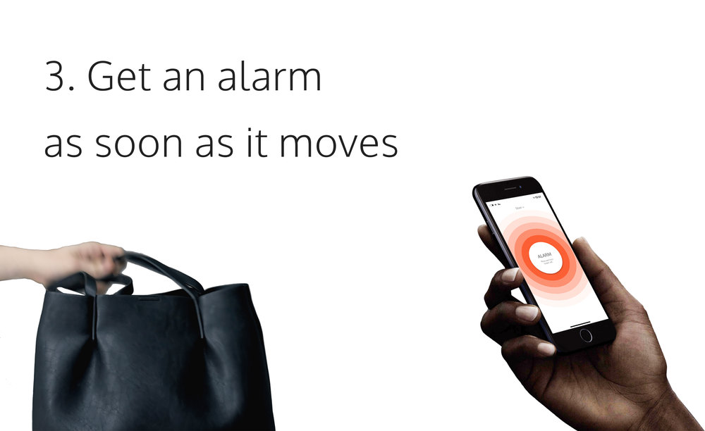 IF IT MOVES, YOU WILL KNOW   When the activated Stilla Motion is moved, you'll instantly get an alarm in your phone or smartwatch. Simple as that.