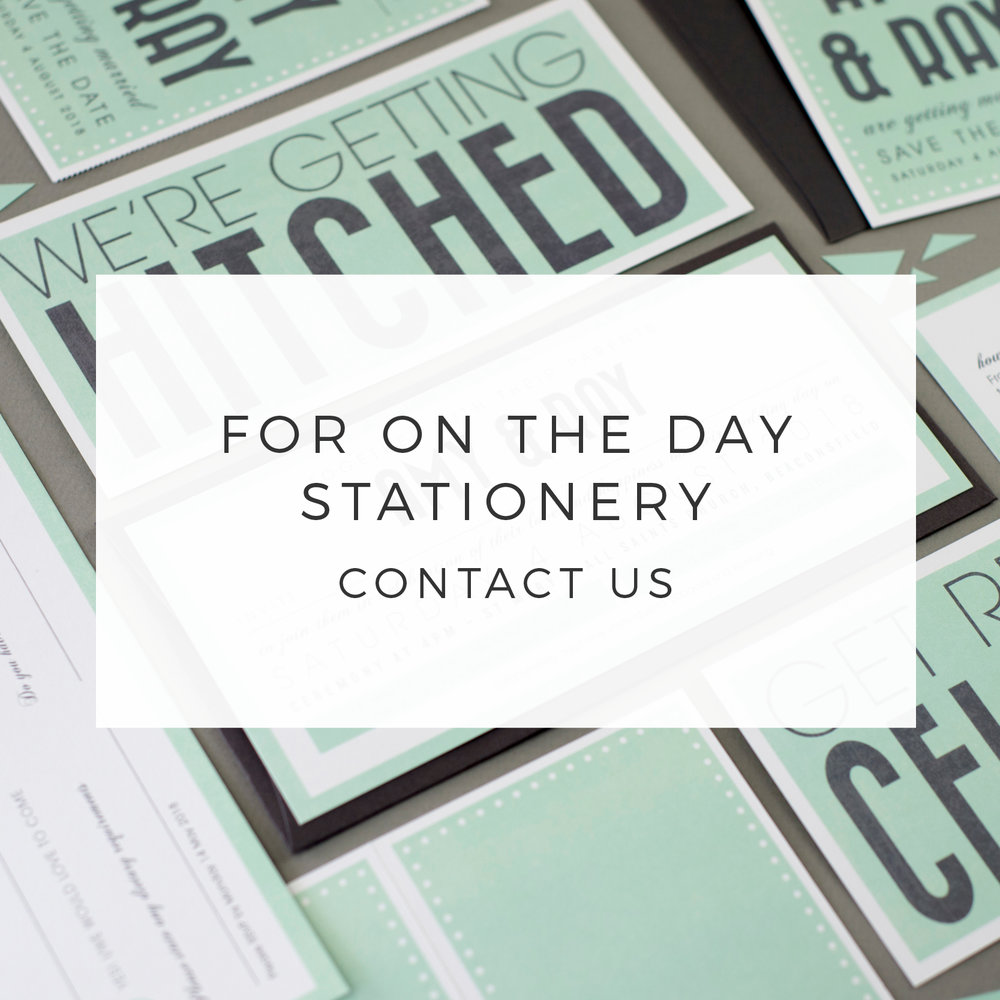 FOR ON THE DAY STATIONERY   CONTACT US