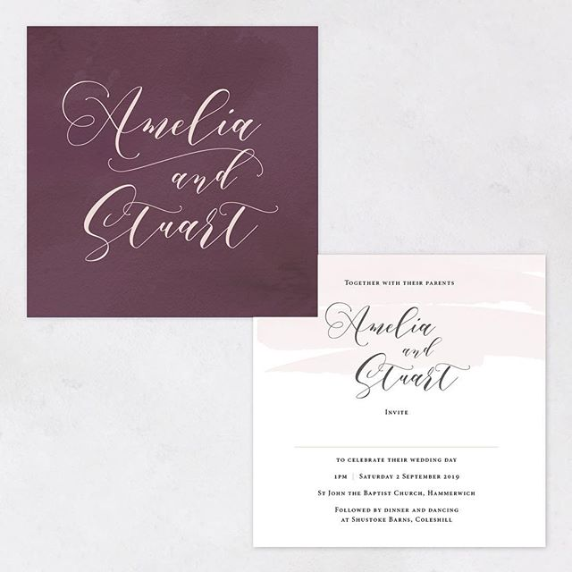 We have been uploading some new colour options for our Amelia  design including this plum and blush combo. Autumn wedding colours can be a bit tricky but we think this beautiful colour way could be a winner for those weddings when the nights start to draw in. . . . #wedding #stationery #plum #blushpink #autumn #autumnalwedding #fallwedding #engaged #bride #groom #wedmin #weddingcolours #weddinginvitations #savethedate