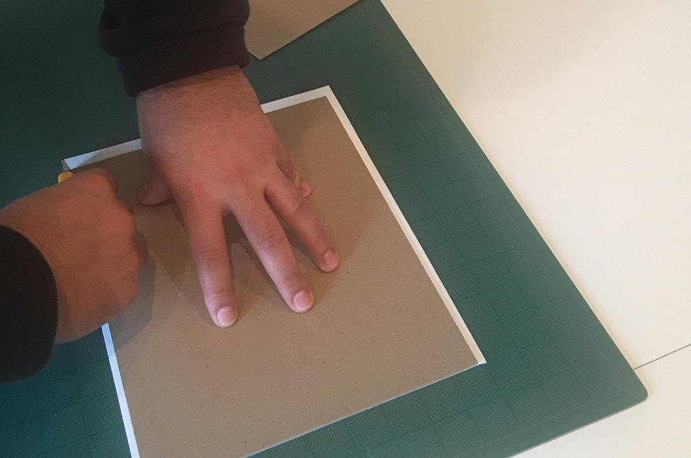 These are my husband's hands! NOT MINE! He is a master architectural model maker and designer with Rafael Viñoly Architects so he knows what he is doing!!