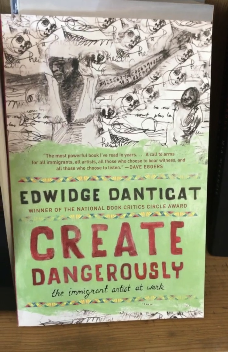 """""""I am even more certain that to create dangerously is also to create fearlessly, boldly embracing the public and private terrors that would silence us, then bravely moving forward even when it feels as though we are chasing or being chased by ghosts."""""""