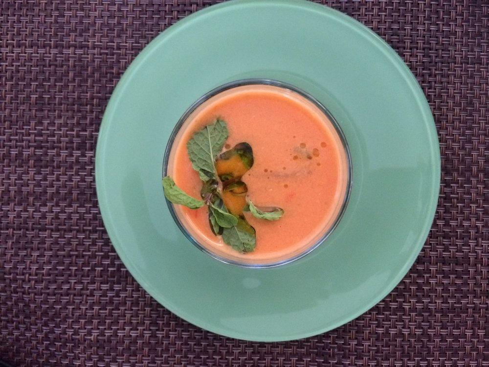 A Gazpacho Clinton Cocktail from my kitchen: I'll be knocking back at least one of these tonight.