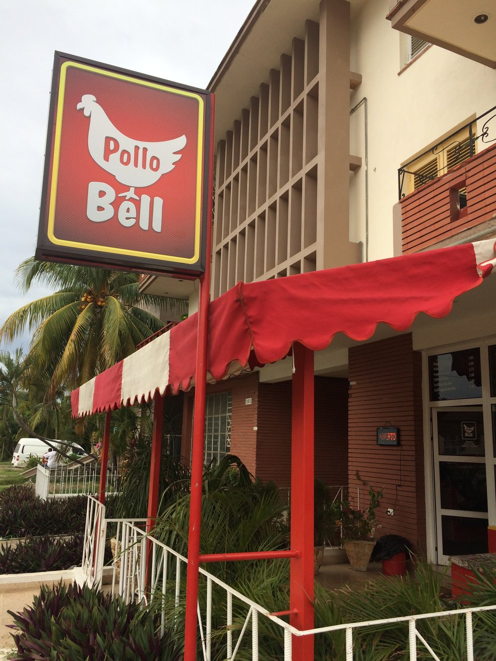 Pollo Bell,one of the rare quasi-food food restaurants in Havana,and the scene of an encounter with Americans.