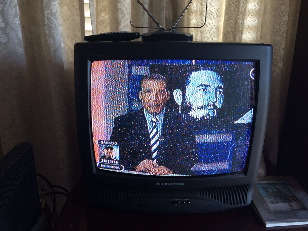 Fidel passed away at 10:29 p.m. on Friday, after my family and I had already gone to bed. On Saturday morning, I learned of the death through a text message from the friend in the U.S. that came in the middle of the night. I turned on our very old television to see the announcers reporting on it. It turns out a lot of other Cubans learned the news from friends overseas first, though Raul Castro, Cuba's current leader and Fidel's brother, made an announcement on television just hours after Fidel's passing.