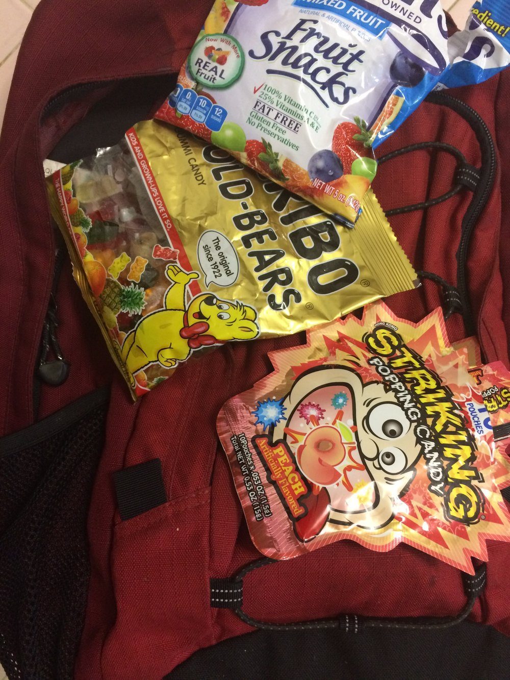 I had plenty of treats in my backpack, just no real food ...