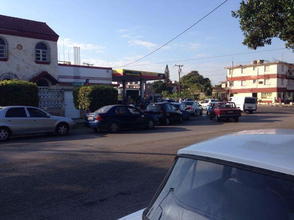 The line outside our neighborhood gas station last week, after it was announced that rationing on gasoline would begin.