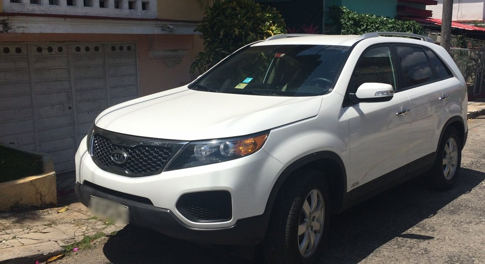 Our KIA Sports Utility Vehicle, the envy of the roads in Havana.