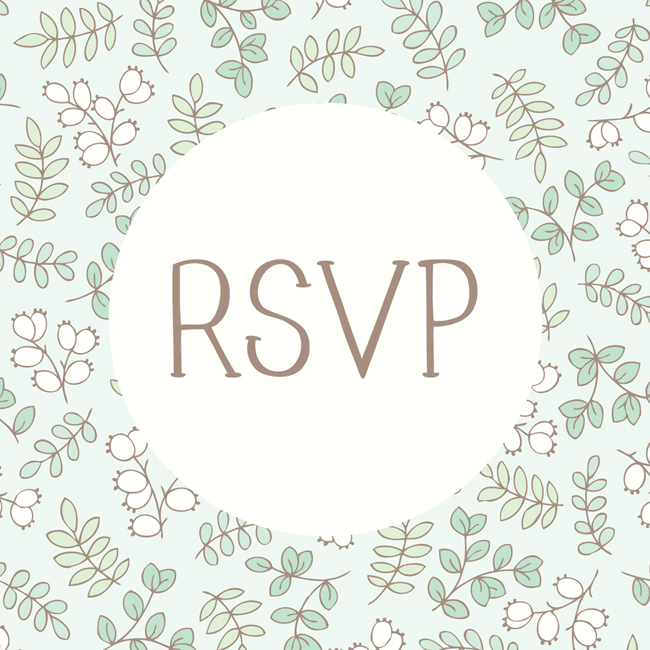 Bea & Bloom Illustrated Wedding Stationery Botanica RSVP