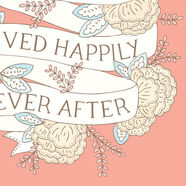 Bea & Bloom Illustrated Wedding Stationery Happily Ever After Fairytale Blooms