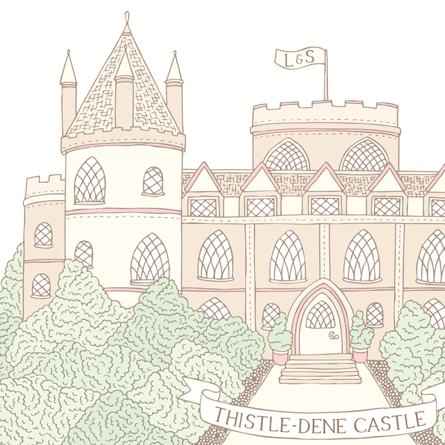 Bea & Bloom Illustrated Wedding Stationery Venue Fairytale Castle