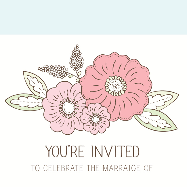 Bea & Bloom Illustrated Wedding Stationery Floral Blooms