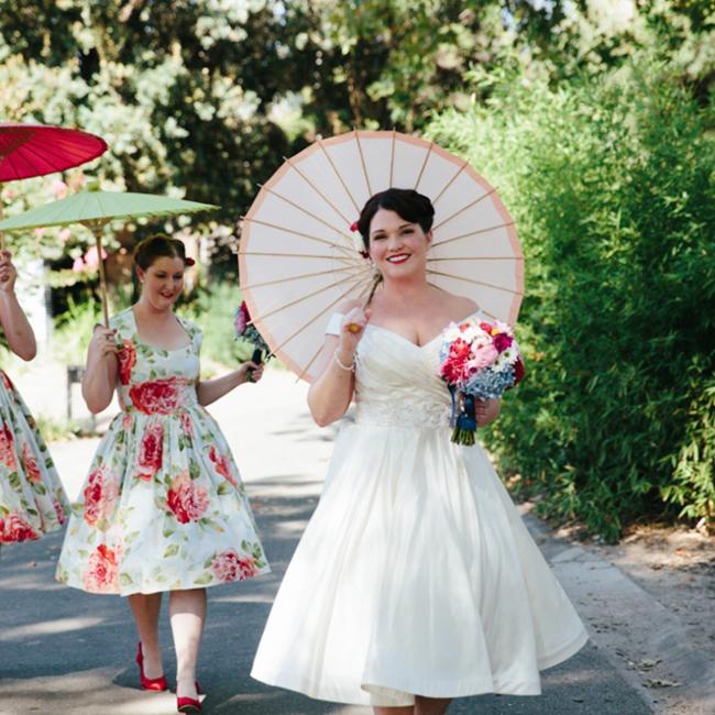 Retro Melbounre Zoo Wedding Rock n Roll Bride Dijana Risteka