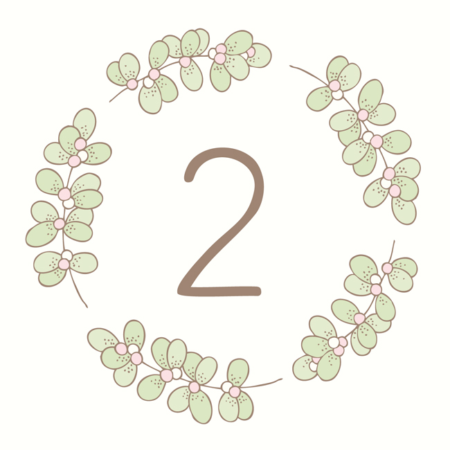 Bea & Bloom Illustrated Wedding Stationery Sneak Peek Mistletoe