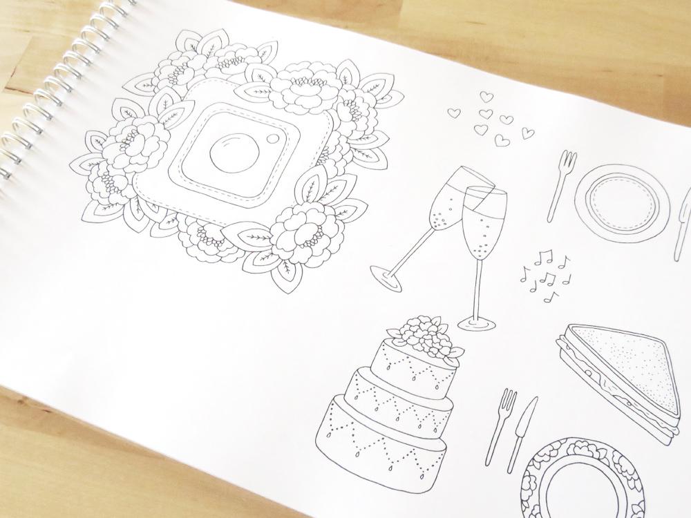 Bea & Bloom Illustrated Wedding Stationery Sketchbook