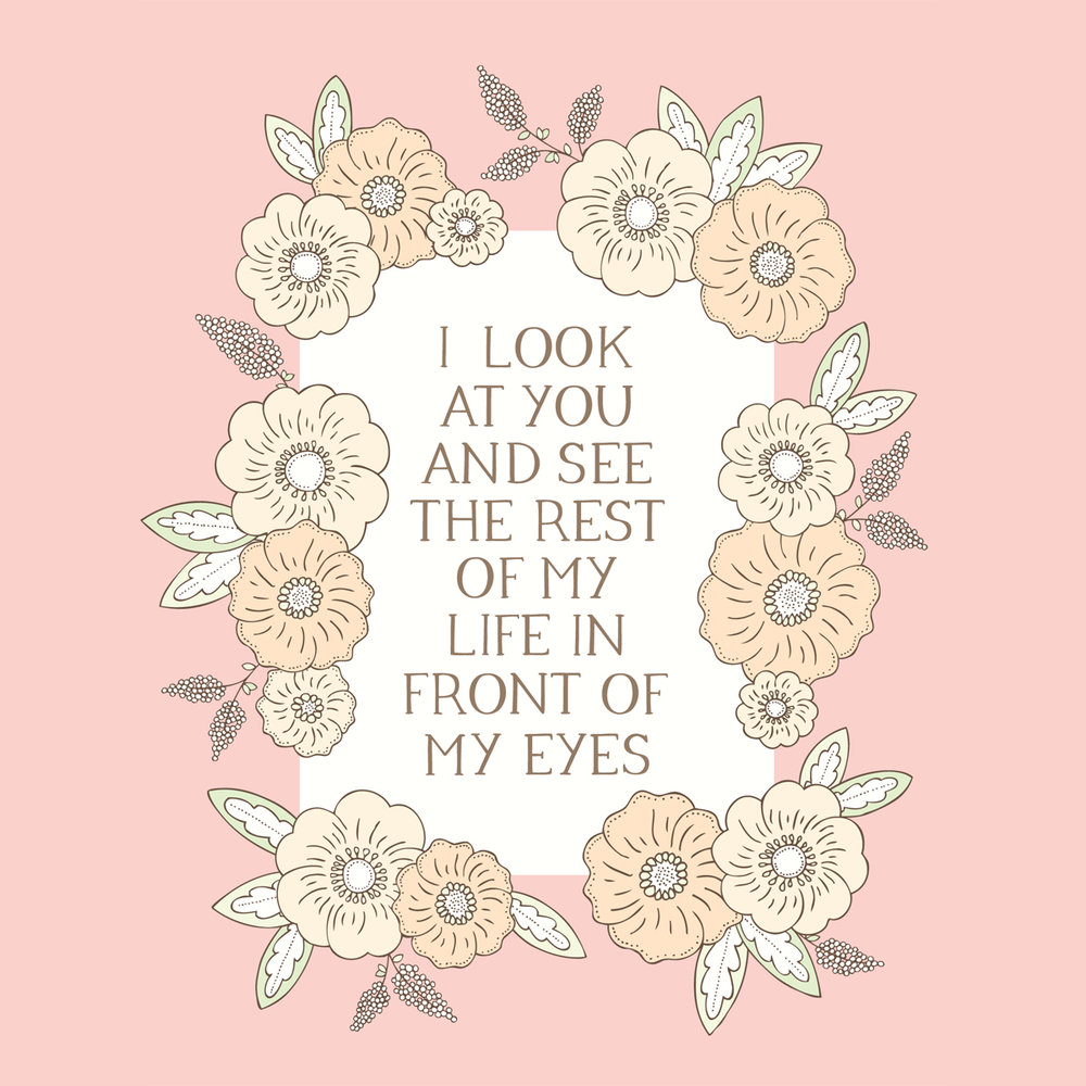 Bea & Bloom Illustrated Wedding Stationery Romantic Quotes
