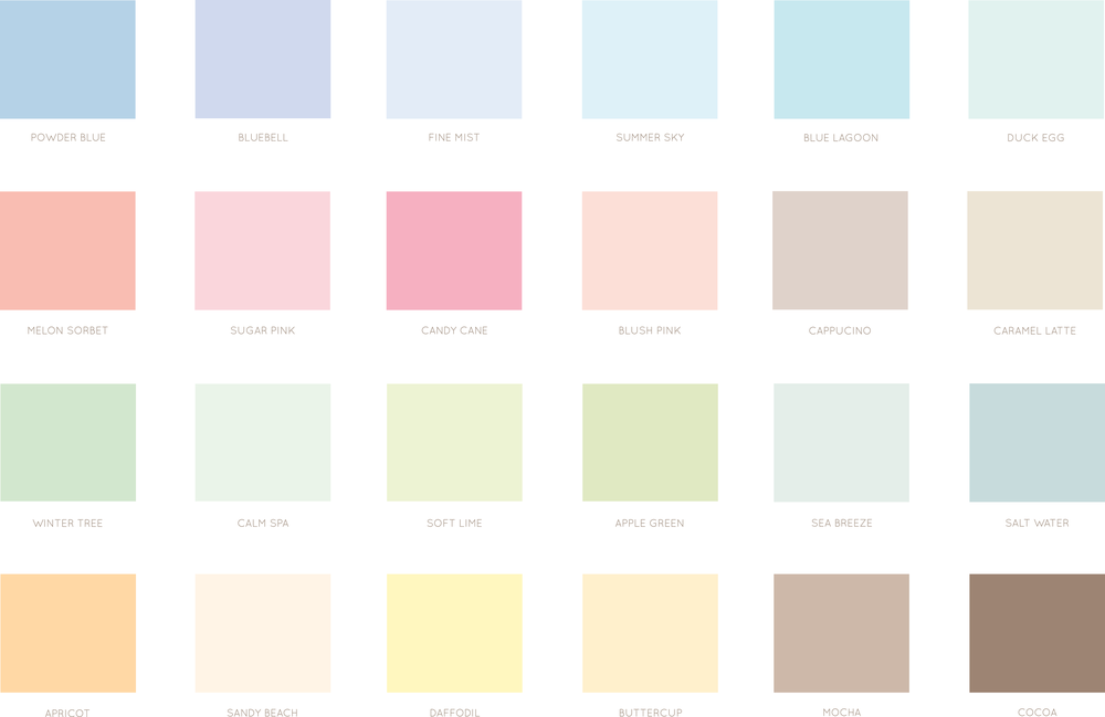 Bea and Bloom Illustrated Wedding Stationery colour palette