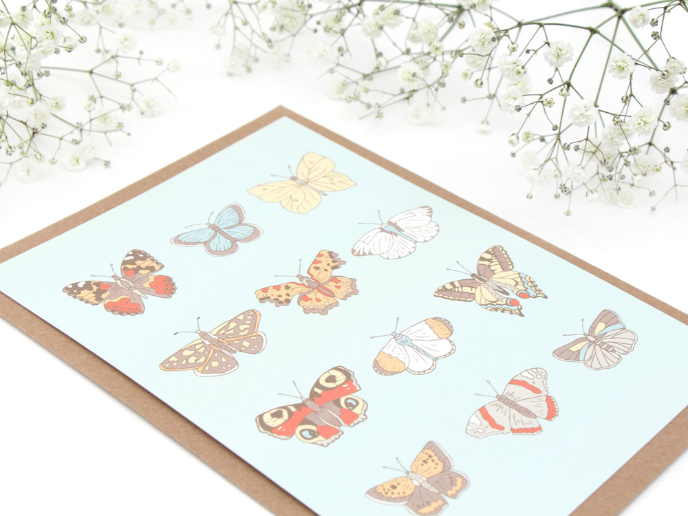 Bea & Bloom Illustrated Wedding stationery butterflies flutterbye