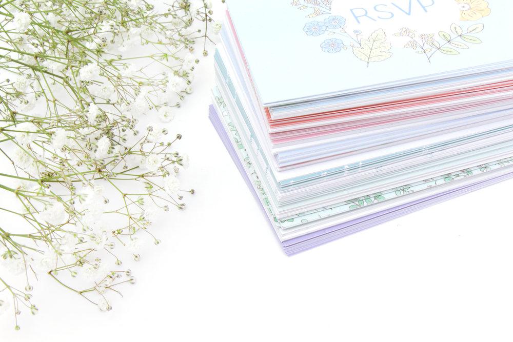 Bea & Bloom illustrated wedding stationery