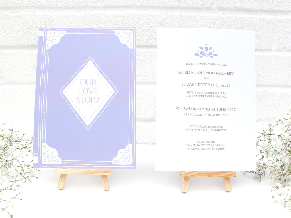 Bea and Bloom Illustrated Wedding Stationery Love Story Books