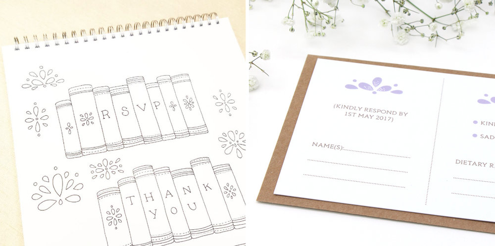Bea and Bloom Illustrated Wedding Stationery Love Story Sketchbook