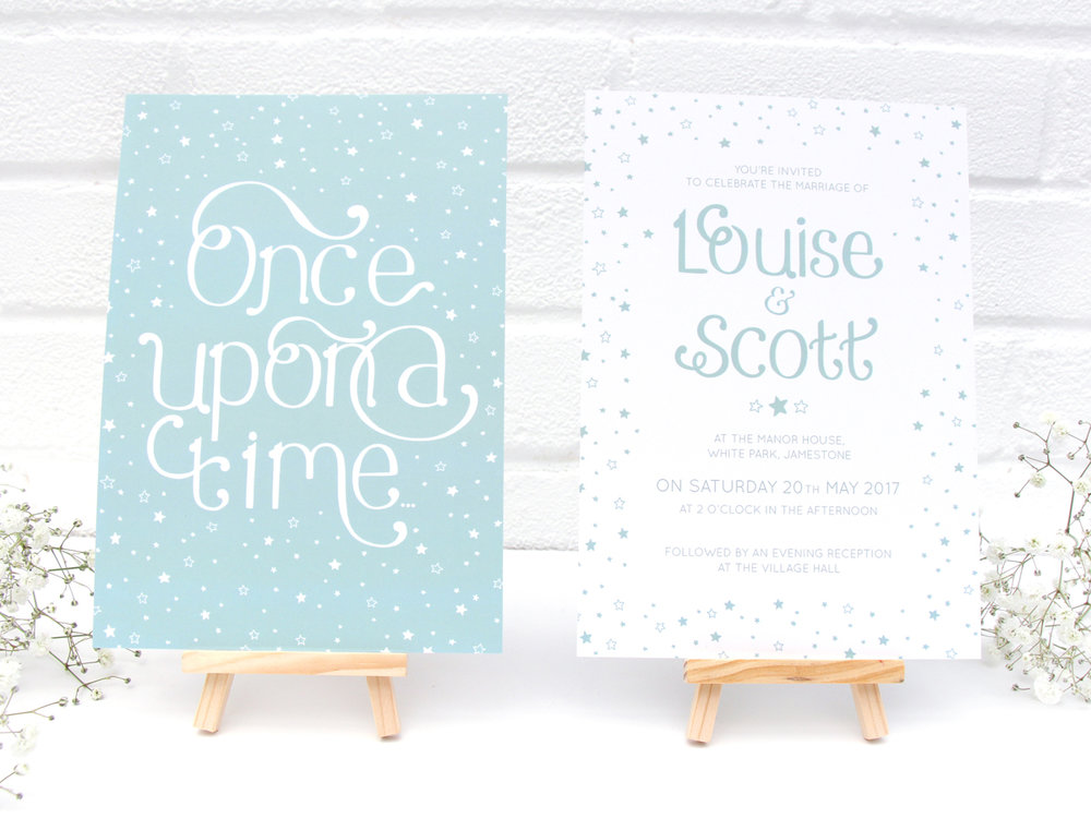 Bea and Bloom Illustrated Wedding Stationery Once Upon a Time Fairytale