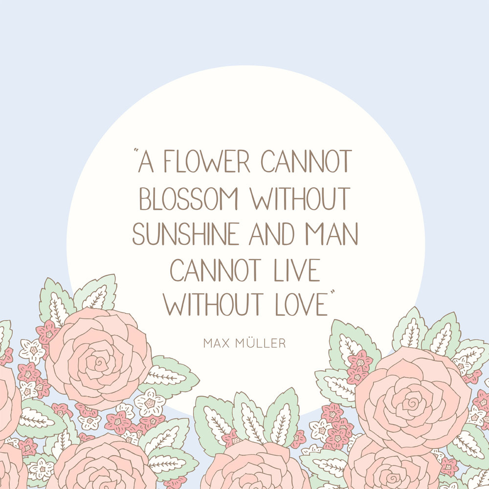 Bea and Bloom Illustrated Wedding Stationery Love Quote