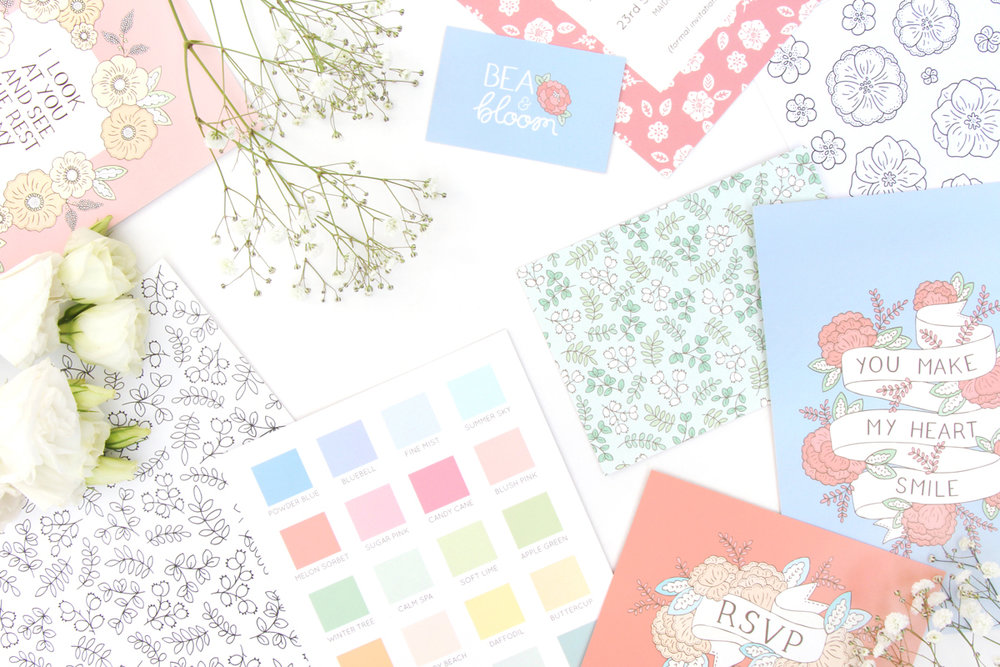 Bea and Bloom Illustrated Wedding Stationery Inspiration