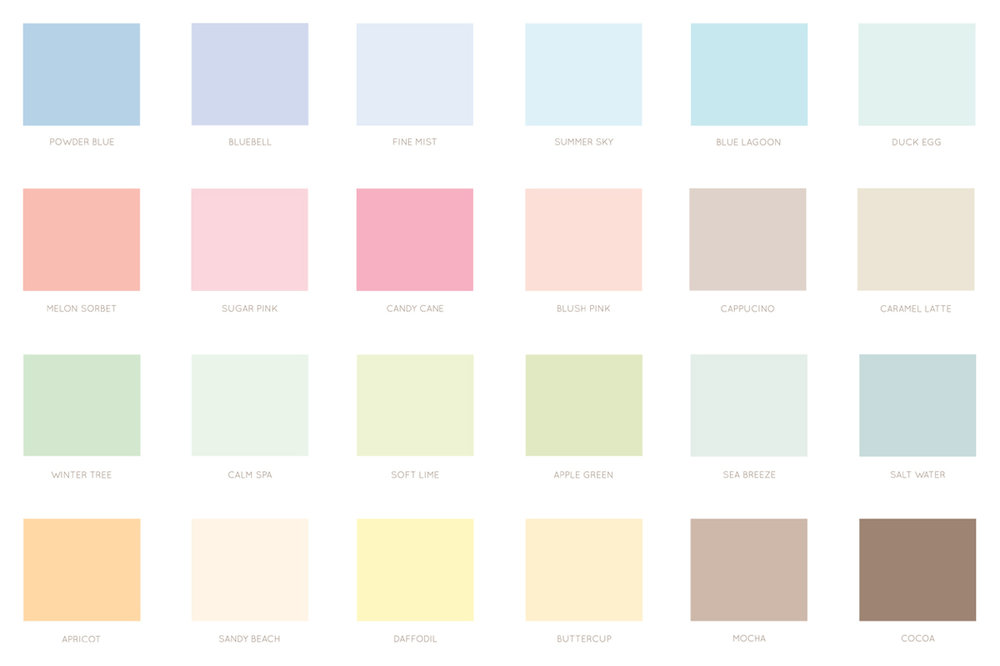 Bea and Bloom Illustrated Wedding Stationery Colour Palette INspiration