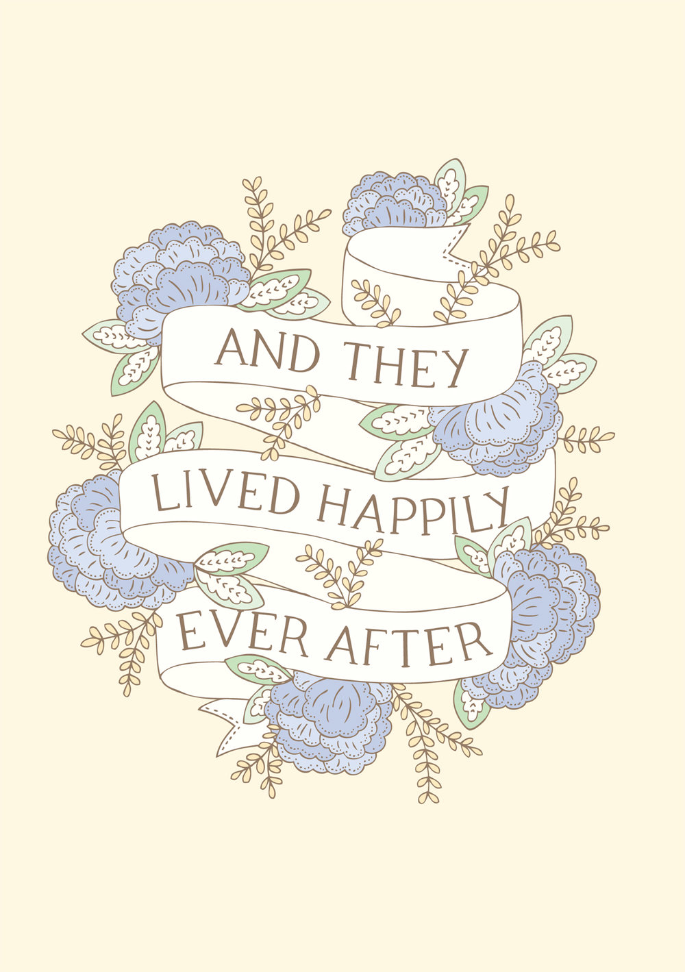 Bea and Bloom Illustrated Wedding Stationery Happily Ever After