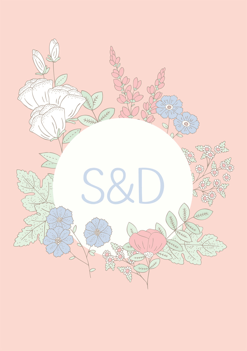 Bea and Bloom Illustrated Wedding Stationery Meadow Flower