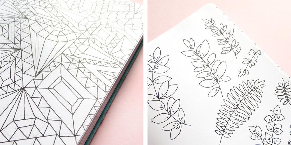 Bea & Bloom Illustrated Wedding Stationery Studio Snapshots Sketchbook