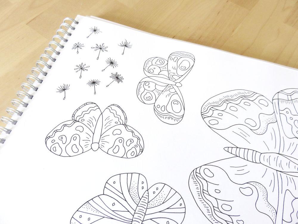Bea and Bloom Christening Invitation Custom Venue Illustration