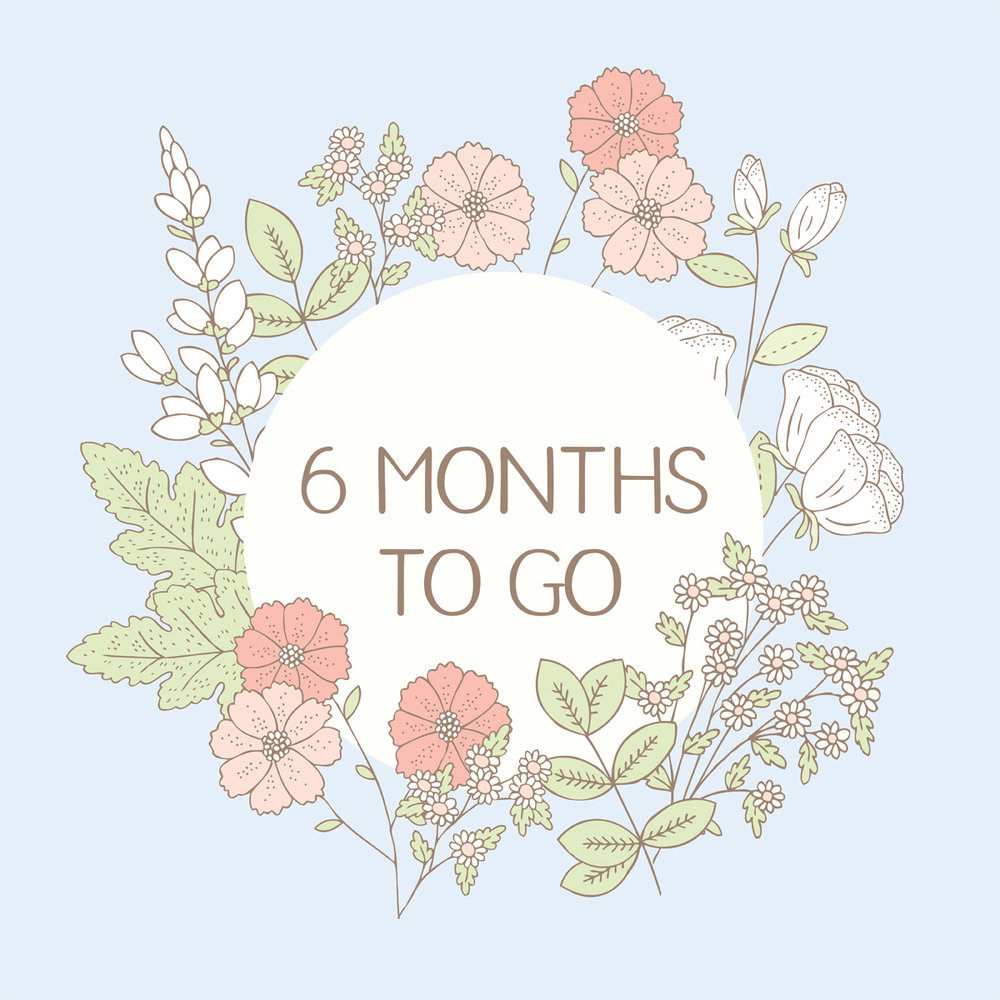 Bea and Bloom Illustrated Wedding Stationery 6 months to go