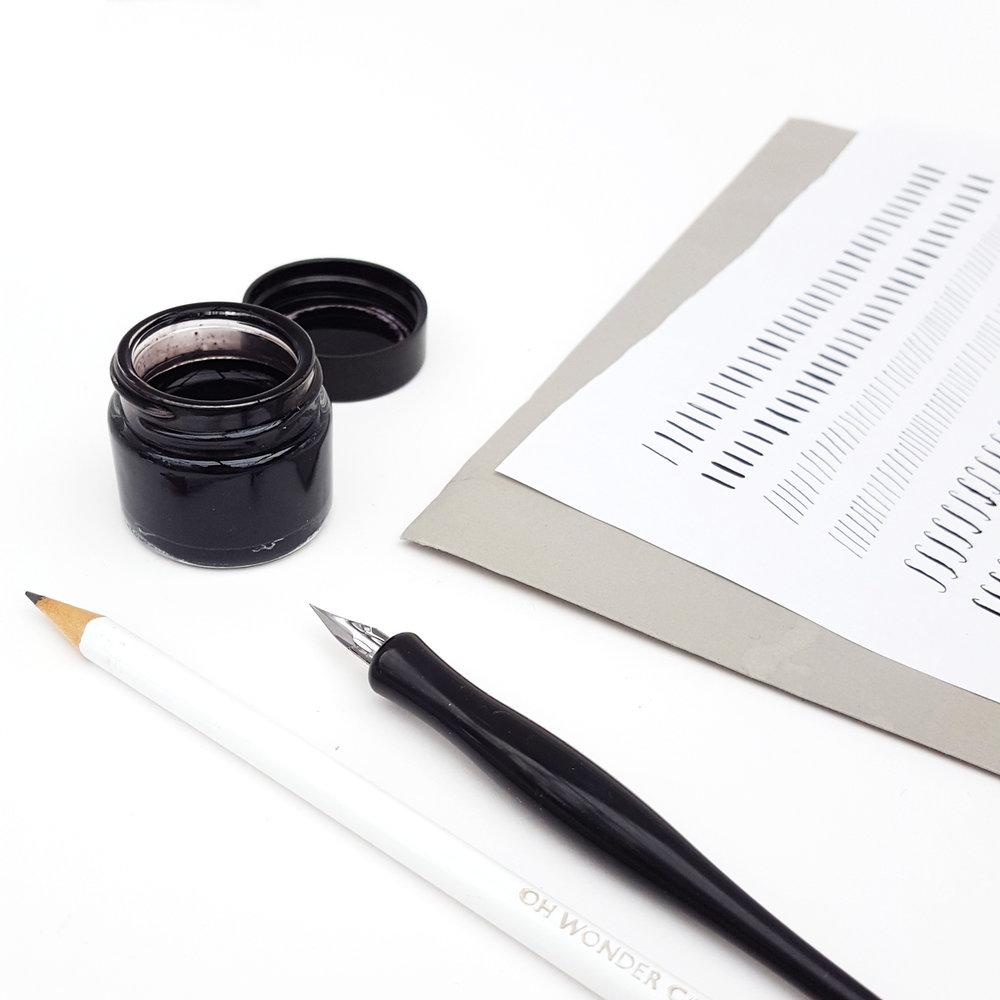 Oh Wonder Modern Calligraphy Workshop