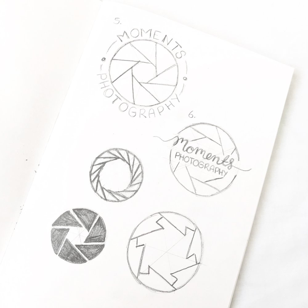 Logo & Branding Design Bea & Bloom Creative Design Studio sketchbook