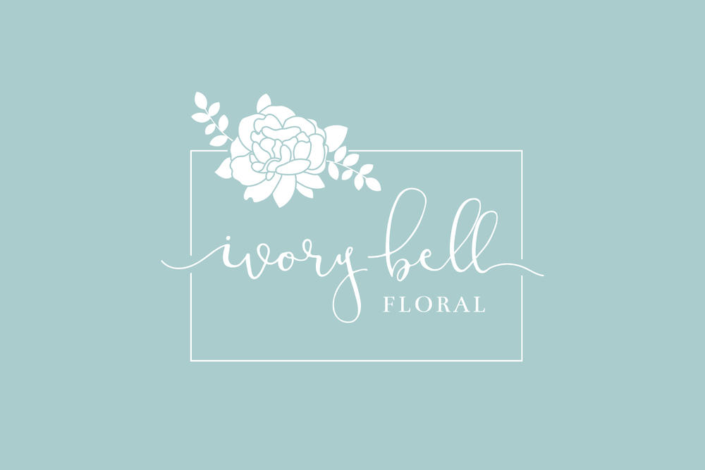 Ivory Bell Floral Logo & Branding by Bea & Bloom Creative Design Studio
