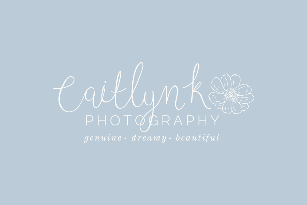 Caitlyn K Photography Logo & Branding by Bea & Bloom Creative Design Studio
