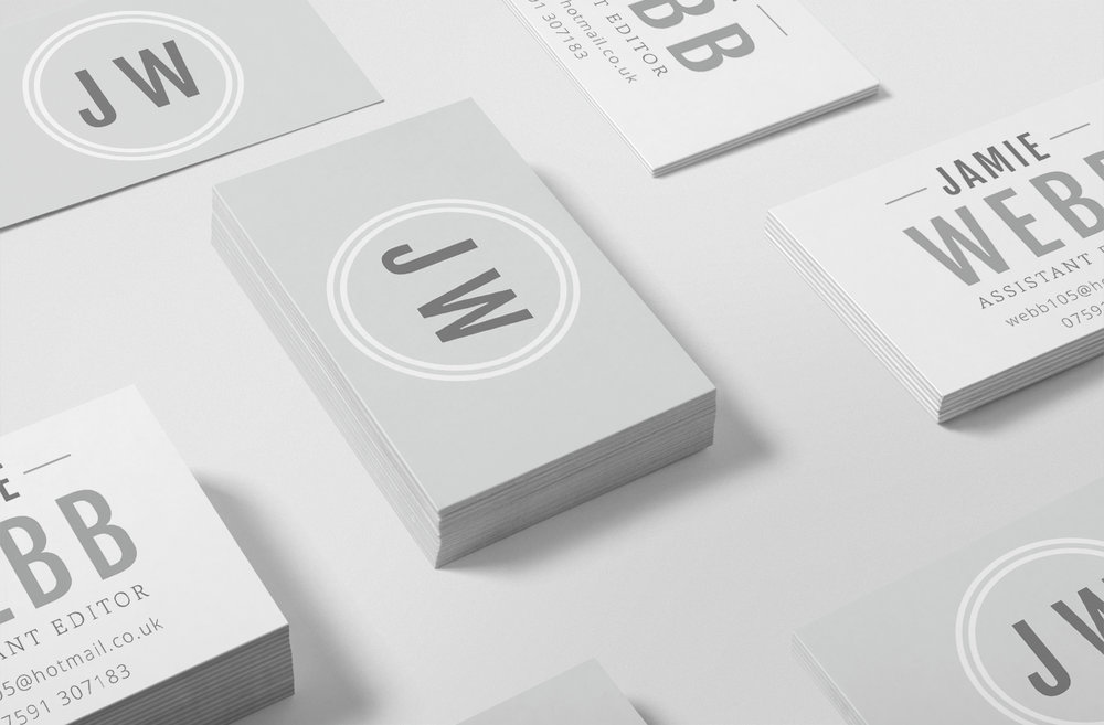 Jamie Webb Assistant Editor Logo & Branding Business Cards by Bea & Bloom Creative Design Studio