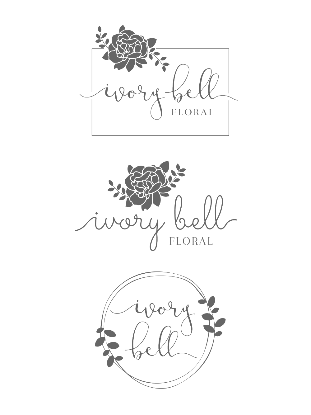 Ivory Bell Floral Logo & Branding Bea & Bloom Creative Design Studio