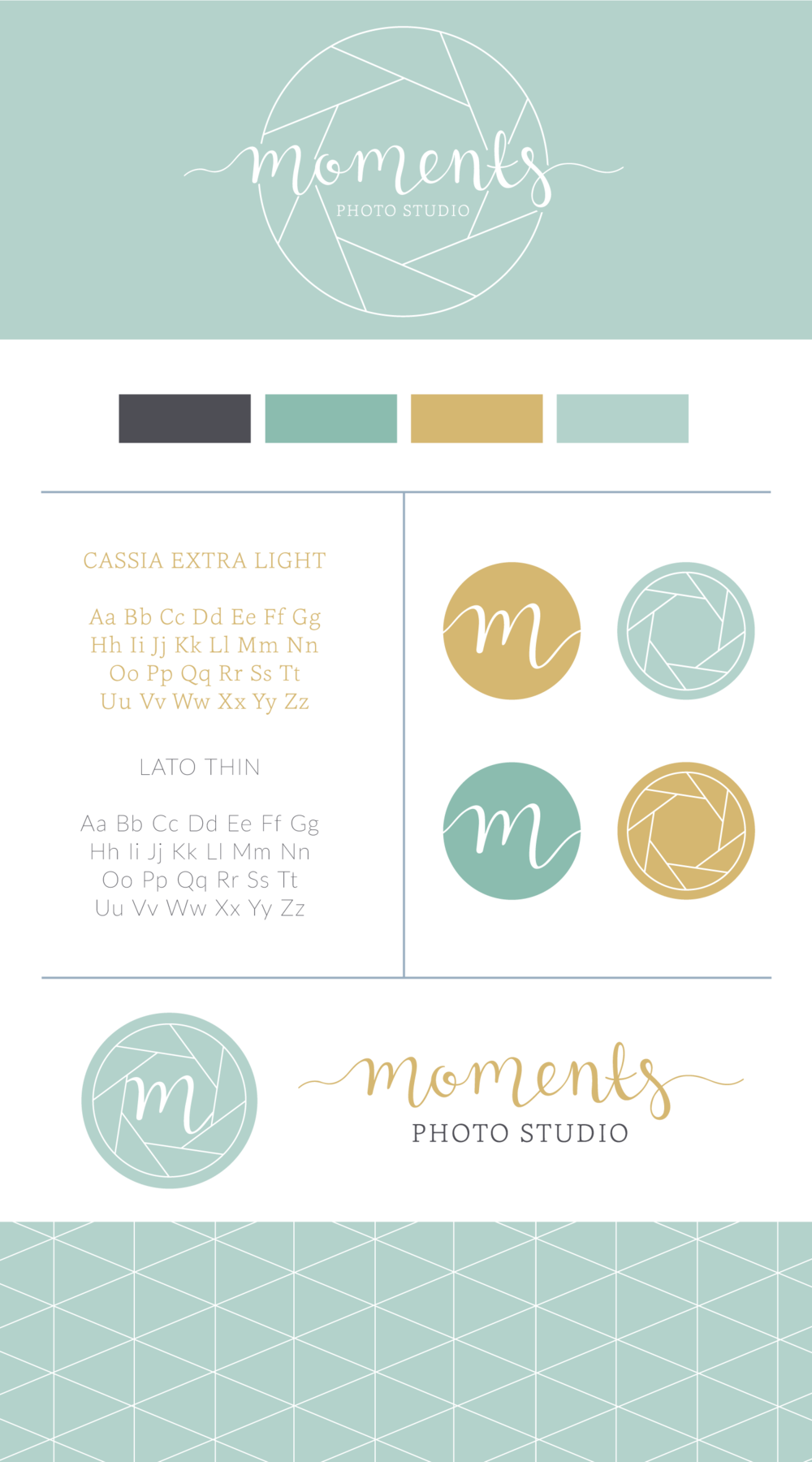 Moments Photo Studio mood board Logo & Branding Design Bea & Bloom Creative Design Studio