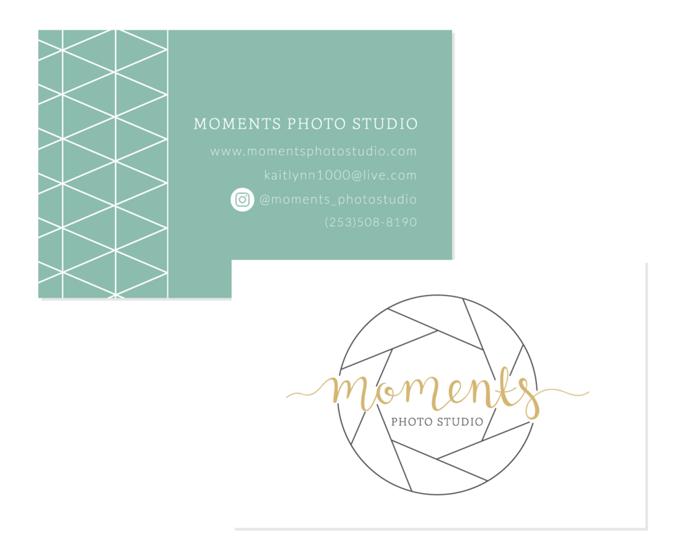 Moments Photo Studio Business Card Logo & Branding Design Bea & Bloom Creative Design Studio