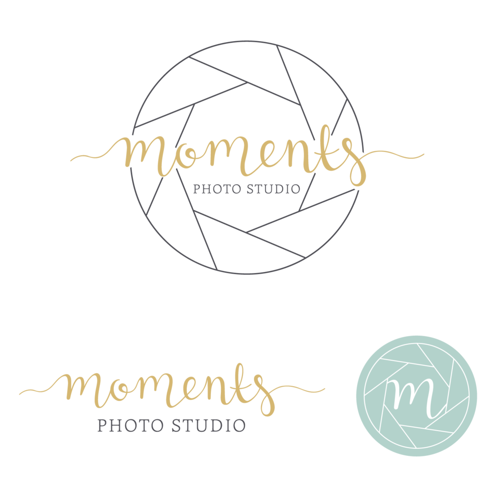 Moments Photo Studio Logo & Branding Design Bea & Bloom Creative Design Studi