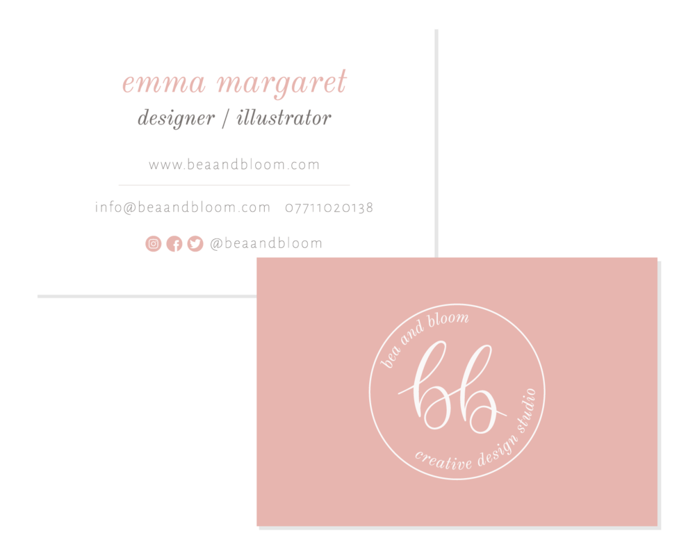 Logo & Branding Business Cards Bea & Bloom Creative Design Studio