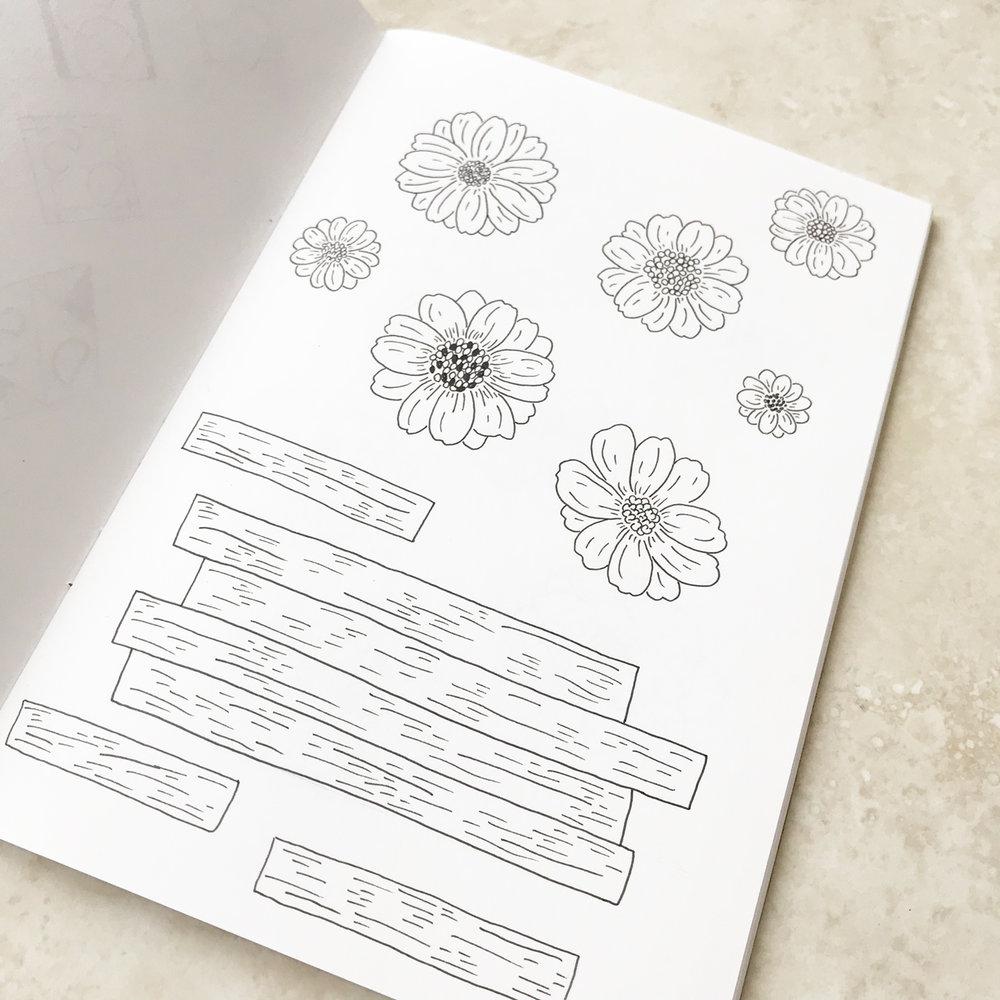Caitlyn K Photography Logo & Branding Design Bea & Bloom Creative Design Studio sketchbook