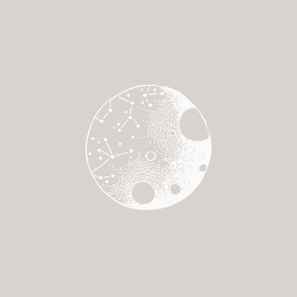 #the100dayproject moon illustration Bea & Bloom Creative Design Studio