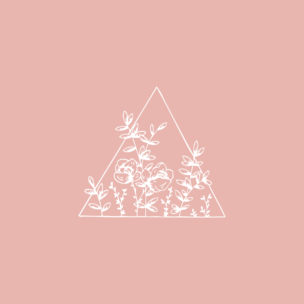 #the100dayproject floral triangle illustration Bea & Bloom Creative Design Studio
