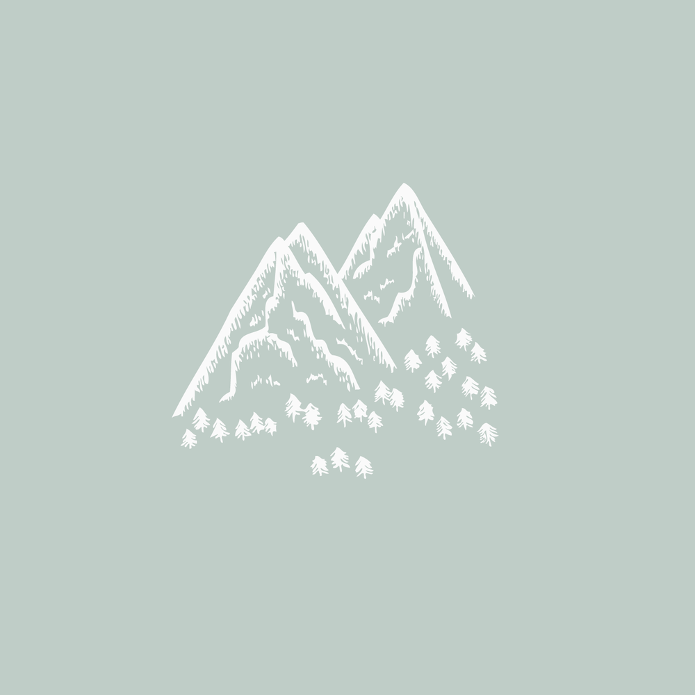 #the100dayproject mountain illustration Bea & Bloom Creative Design Studio