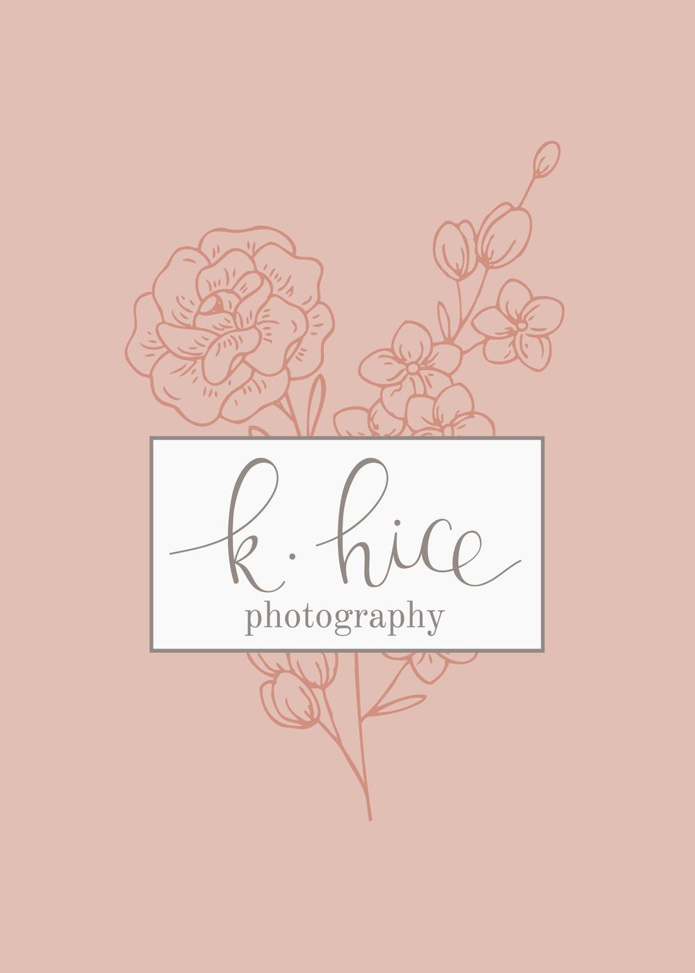 K. Hice Photography - Logo & Branding by Bea & Bloom Creative Design Studio