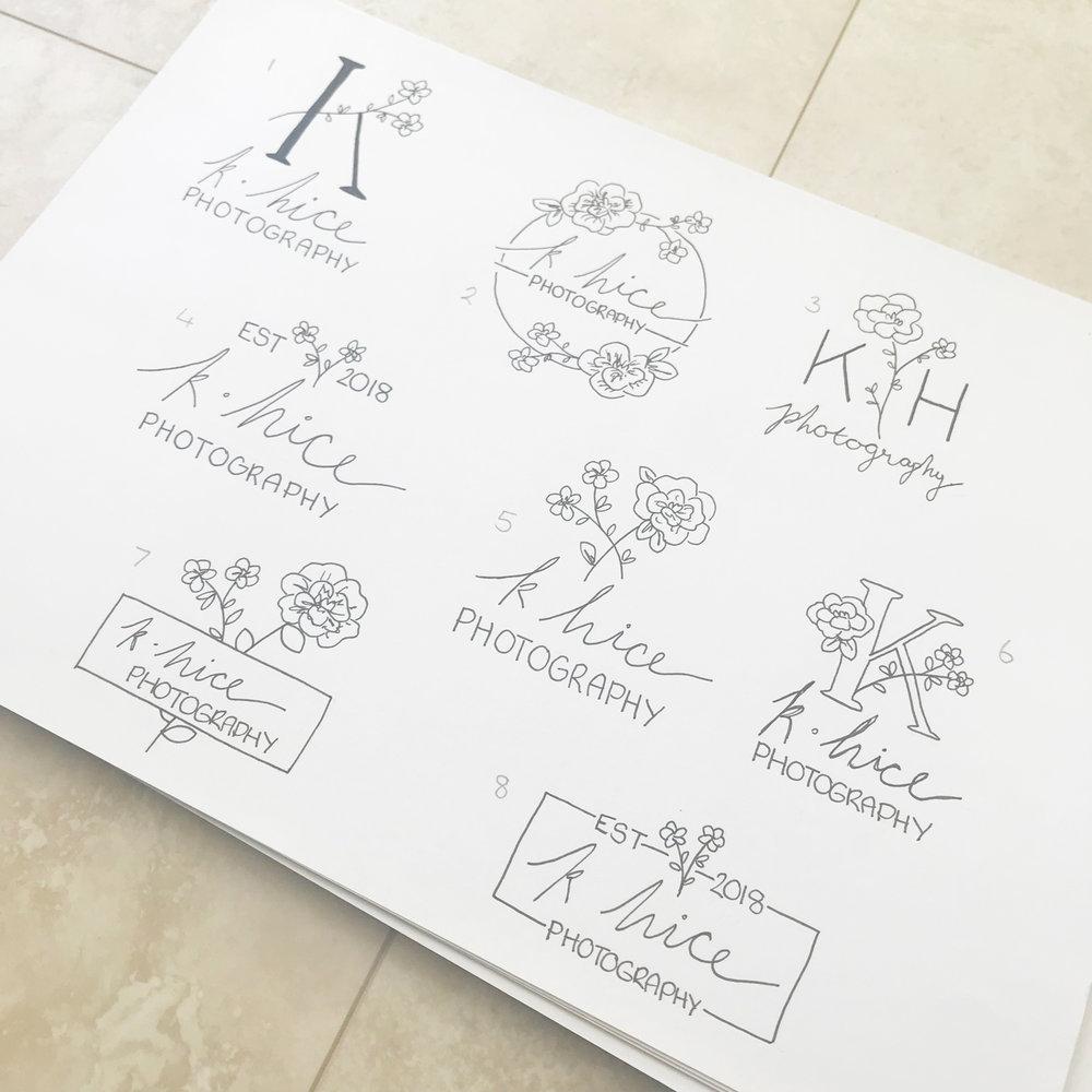 K Hice Photography - Logo & Branding by Bea & Bloom Creative Design Studio